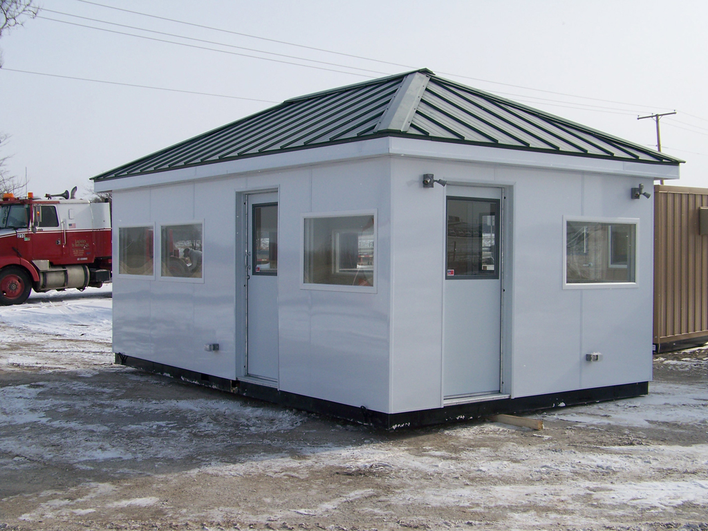 Portable office guard buildings warestar for Portable shed office
